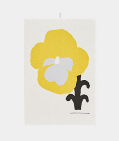 Orvokki Yellow Kitchen Towel